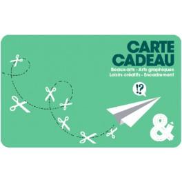 Carte cadeau verte motif avion
