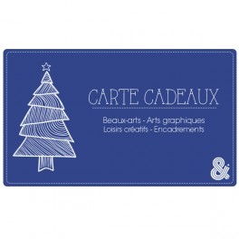 Carte cadeau électronique Noël bleu foncé