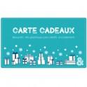 Carte cadeau électronique Noël bleu clair