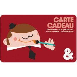 Carte cadeau rouge Monsieur peintre